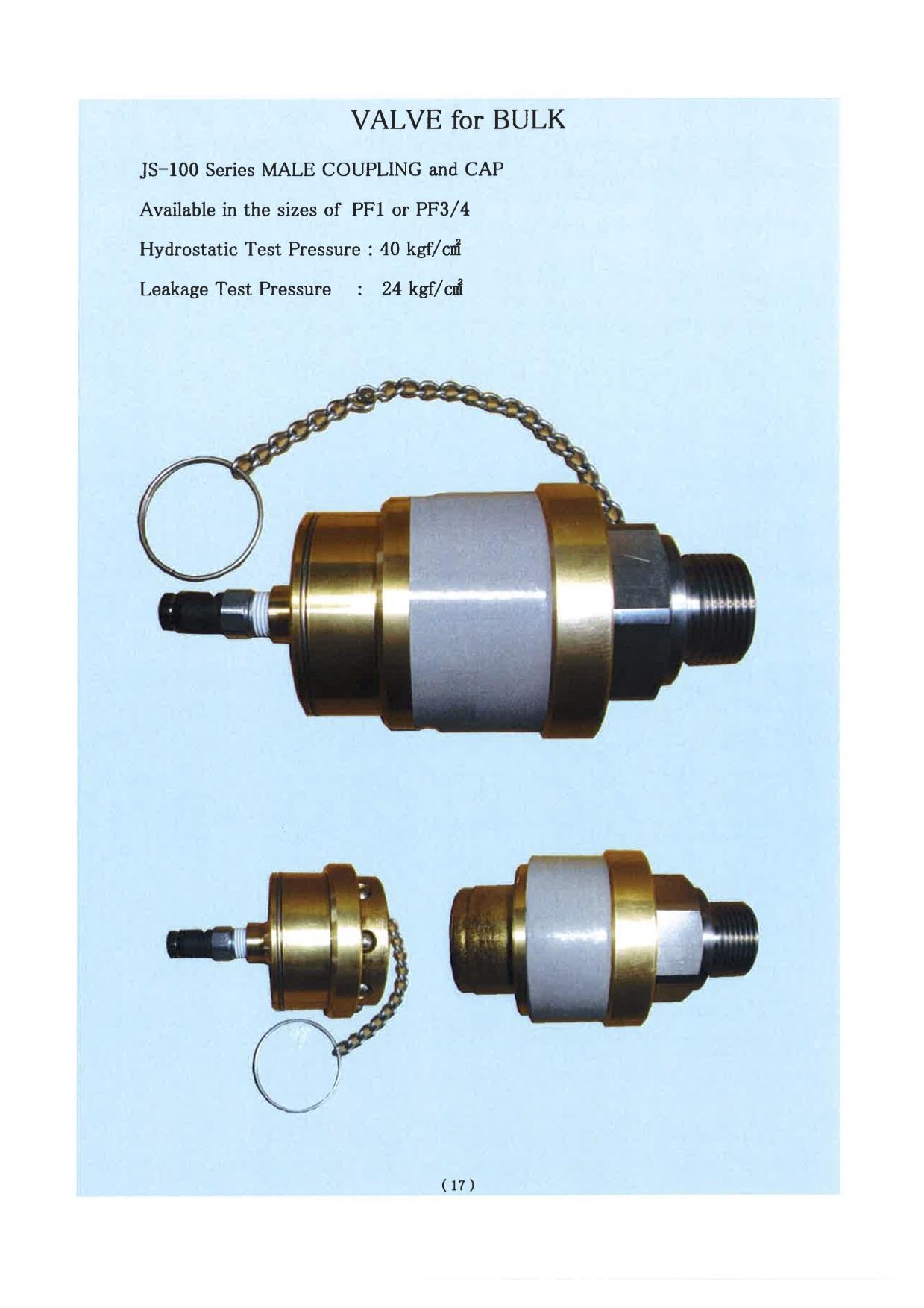 Khớp nối nhanh coupling JSV valve cho xe chở LPG, nạp hệ thống bồn