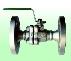 Van bi nối bích thép đúc, Carbon Steel Ball Valve Reduced Port, Flanged Ends Type