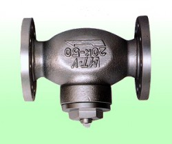 Van lọc khí Gas, lọc LPG kiểu T, New Ductile Iron T Type Strainer, Flanged Type, made in Japan
