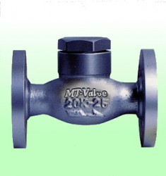 Van một chiều kiểu piton , Carbon Steel Lift Check Valve, Flanged Type, made in Japan